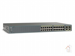 Коммутатор Cisco Catalyst (WS-C2960-24PC-S) 2960 24 10|100 PoE + 2 T|SFP LAN Lite Image