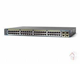 Коммутатор Cisco Catalyst (2960-48PST-S) 2960 48 10|100 PoE + 2 1000BT +2 SFP LAN Lite Image