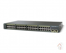 Коммутатор Cisco Catalyst (WS-C2960-48TT-L) 2960 48 10|100 + 2 1000BT LAN Base Image