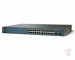Коммутатор WS-C3560V2-24TS-SD Catalyst 3560V2 24 10/100 + 2 SFP  + IPB Image + DC Power