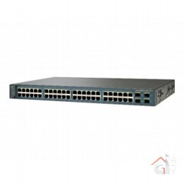Коммутатор WS-C3560V2-48PS-SM Catalyst 3560V2 48 10/100 PoE + 4 SFP + IPB 3-Pack