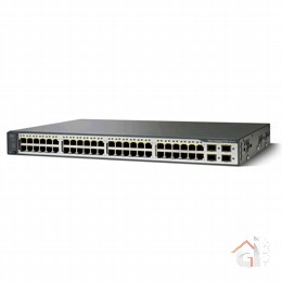 Коммутатор WS-C3750V2-48PS-E Catalyst 3750V2 48 10/100 PoE + 4 SFP Enhanced Image